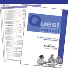 Quest is a framework to guide the process of planning, researching, developing, disseminating and evaluating communication and information resources.